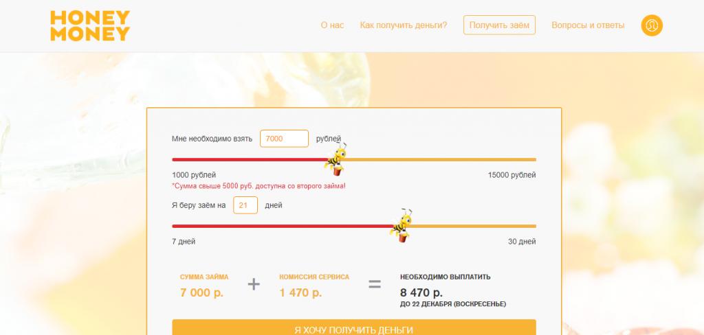 Официальный сайт Honey money hm-finance.ru
